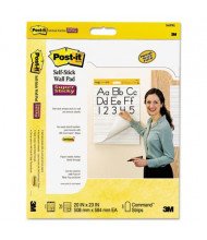 "Post-It Self-Stick 20"" X 23"", 40-Sheet, 2-Pack, Ruled Wall Pads"