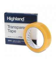 "Highland 1"" x 72 yds Transparent Tape, 3"" Core, Clear"