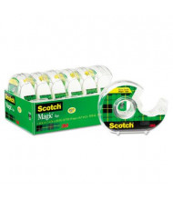 """Scotch 3/4"""" x 18 yds Magic Tape with Dispensers, Clear, 6-Pack, 1"""" Core"""