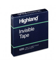 "Highland 1"" x 72 yds Invisible Tape, 3"" Core, Clear"