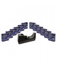"""Highland Tape Dispenser, Clear, 12-Pack, 1"""" Core"""