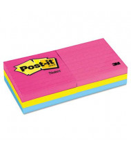 "Post-It 3"" X 3"", 6 100-Sheet Pads, Lined Cape Town Color Notes"