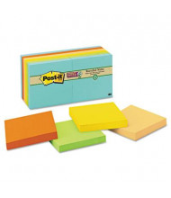 "Post-It 3"" X 3"", 12 90-Sheet Pads, Bali Color Super Sticky Notes"