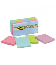 "Post-It 3"" X 3"", 12 90-Sheet Pads, Bora Bora Super Sticky Notes"