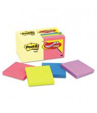 "Post-It 3"" X 3"", 18 100-Sheet Pads, Canary Yellow & Cape Town Notes"