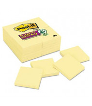 "Post-It 3"" X 3"", 24 90-Sheet Pads, Canary Yellow Super Sticky Notes"