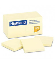 "Highland 3"" X 3"", 18 100-Sheet Pads, Yellow Sticky Notes"