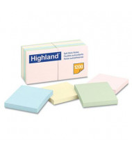 "Highland 3"" X 3"", 12 100-Sheet Pads, Pastel Sticky Notes"