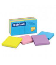 """Highland 3"""" X 3"""", 12 100-Sheet Pads, Sunbright Sticky Notes"""