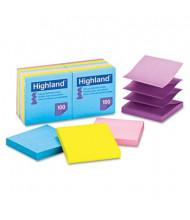 "Highland 3"" X 3"", 12 100-Sheet Pads, Bright Color Sticky Notes"