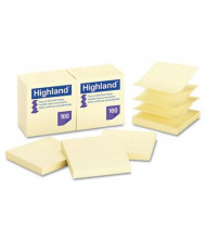 "Highland 3"" X 3"", 12 100-Sheet Pads, Yellow Sticky Notes"