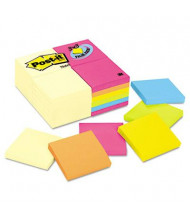 "Post-It 3"" X 3"", 24 100-Sheet Pads, Canary Yellow & Cape Town Notes"