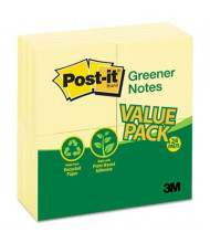 "Post-It 3"" X 3"", 24 100-Sheet Pads, Canary Yellow Greener Notes"