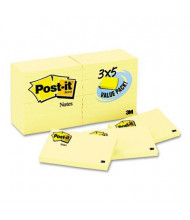 "Post-It 3"" X 5"", 24 90-Sheet Pads, Canary Yellow Notes"