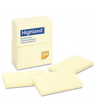"Highland 3"" X 5"", 12 100-Sheet Pads, Yellow Sticky Notes"