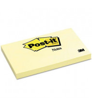 "Post-It 3"" X 5"", 12 100-Sheet Pads, Canary Yellow Notes"