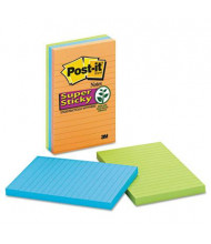 "Post-It 4"" X 6"", 3 90-Sheet Pads, Lined Marrakesh Super Sticky Notes"