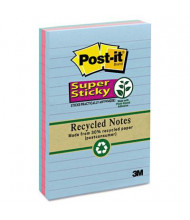 "Post-It 4"" X 6"", 3 90-Sheet Pads, Lined Bora Bora Super Sticky Notes"