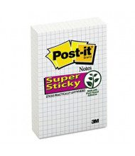 "Post-It 4"" X 6"", 6 50-Sheet Pads, White Super Sticky Blue Grid Notes"