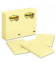 "Post-It 4"" X 6"", 12 100-Sheet Pads, Lined Canary Yellow Notes"