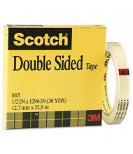 "Scotch 1/2"" x 36 yds Clear Double-Sided Tape, 3"" Core"
