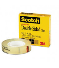 "Scotch 1/2"" x 25 yds Clear Double-Sided Tape, 1"" Core"