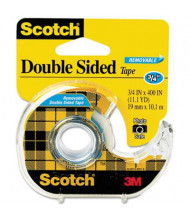 "Scotch Double-Sided Removable Tape with Dispenser, Clear, 1"" Core"