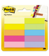 "Post-It 1/2"" x 2"" Page Markers, Bright Assorted, 500 Markers/Pack"