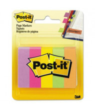 "Post-It 1/2"" x 2"" Page Markers, Assorted Brights, 500 Markers/Pack"