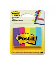"Post-It 1/2"" x 2"" Page Markers, Assorted, 500 Flags/Pack"