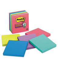 "Post-It 4"" X 4"", 6 90-Sheet Pads, Lined Rio de Janeiro Super Sticky Notes"
