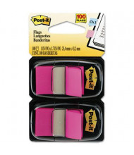 "Post-It 1"" x 1-3/4"" Marking Flags, Bright Pink, 100 Flags/Pack"