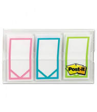 """Post-It 1"""" x 3/4"""" Study Memo Arrow Flags, Bright Assorted, 60 Flags/Pack"""