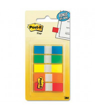 "Post-It 1/2"" x 1-3/4"" Portable Page Flags, Assorted, 100 Flags/Pack"