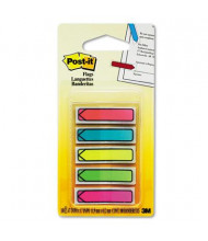 "Post-It 1/2"" x 1-3/4"" Arrow Page Flags, Bright Assorted, 100 Flags/Pack"