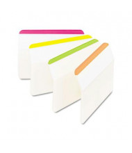 """Post-It 2"""" x 1-1/2"""" Angled Hanging File Tabs, Striped Assorted Bright, 24/Pack"""