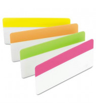 "Post-It 3"" x 1-1/2"" Durable File Tabs, Assorted Bright, 24/Pack"
