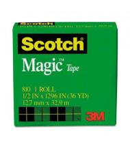 "Scotch 1/2"" x 36 yds Clear Magic Tape, 1"" Core"