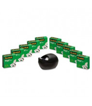 "Scotch Magic Tape with Black Karim Rashid Dispenser, Clear, 10-Pack, 1"" Core"