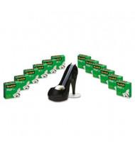 """Scotch Magic Tape with Black Shoe Dispenser, Clear, 12-Pack, 1"""" Core"""