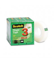 "Scotch 3/4"" x 27.7 yds Clear Magic Tape, 1"" Core, 3-Pack"