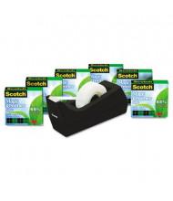 """Scotch Magic Greener Tape with C38 Dispenser, Clear, 6-Pack, 1"""" Core"""