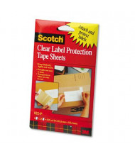 "Scotch 4"" x 6"" ScotchPad Label Protection Tape Pads, 25/Pad, 2 Pads/Pack"