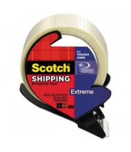 """Scotch Bi-Directional Filament Tape with Dispenser, Clear, 3"""" Core"""