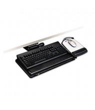 "3M 17-3/4"" Track Adjustable Keyboard Tray with Platform, Black"
