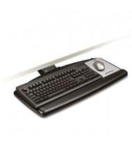 "3M 23"" Track Sit/Stand Adjustable Keyboard Tray with Standard Platform, Black"