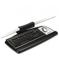 "3M 17"" Track Knob Adjustable Keyboard Tray with Standard Platform, Black"