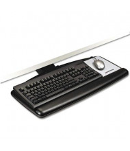"3M 23"" Track Adjustable Keyboard Tray with Standard Platform, Black"