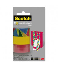"Scotch 3/4"" x 8.3 yds Assorted Stained Glass Expressions Magic Tape, 1"" Core, 3-Pack"