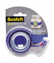 """Scotch Expressions Magic Tape with Dispenser, Dark Blue, 1"""" Core"""